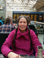 Jane at Victoria Station