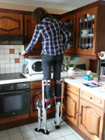 Kate on stilts