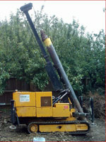 Pile Driving on site